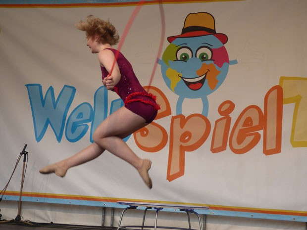 Rope skipping WeltSpieleFest auf dem Alexanderplatz 2017