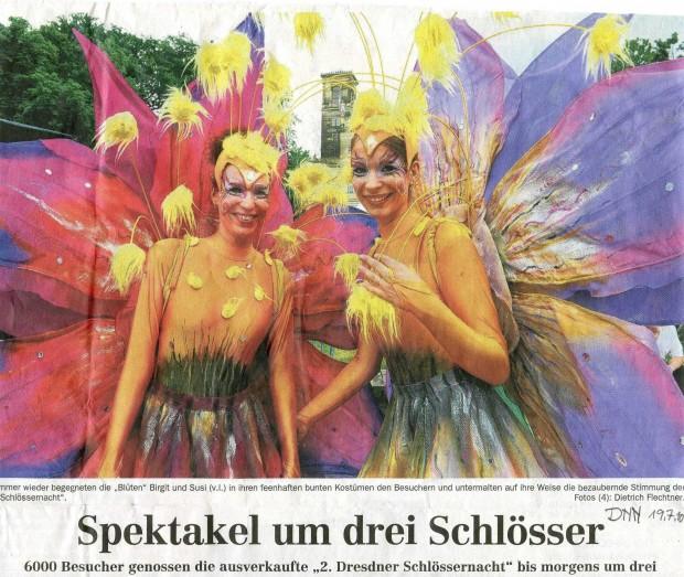 Blüten Ka+Su in der Zeitung